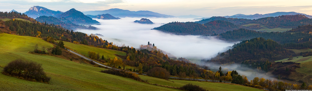 Morning fog over Lesnica Slovakia