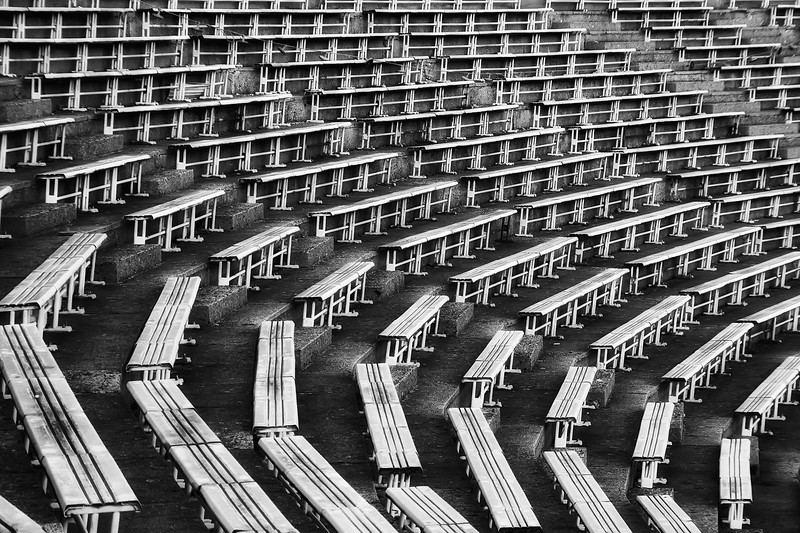 Sit down  I had really nice comment on my last B&W photo, so I edited another one :). This one is from the Strahov stadium in Prague.