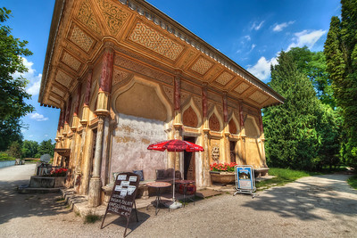 Moorish waterworks  This is one of the building in the park near the Lednice chateau. The detail on it is just amazing.   HDR from three shots, taken with Canon 450D with Sigma 10-20mm lens, from a tripod.