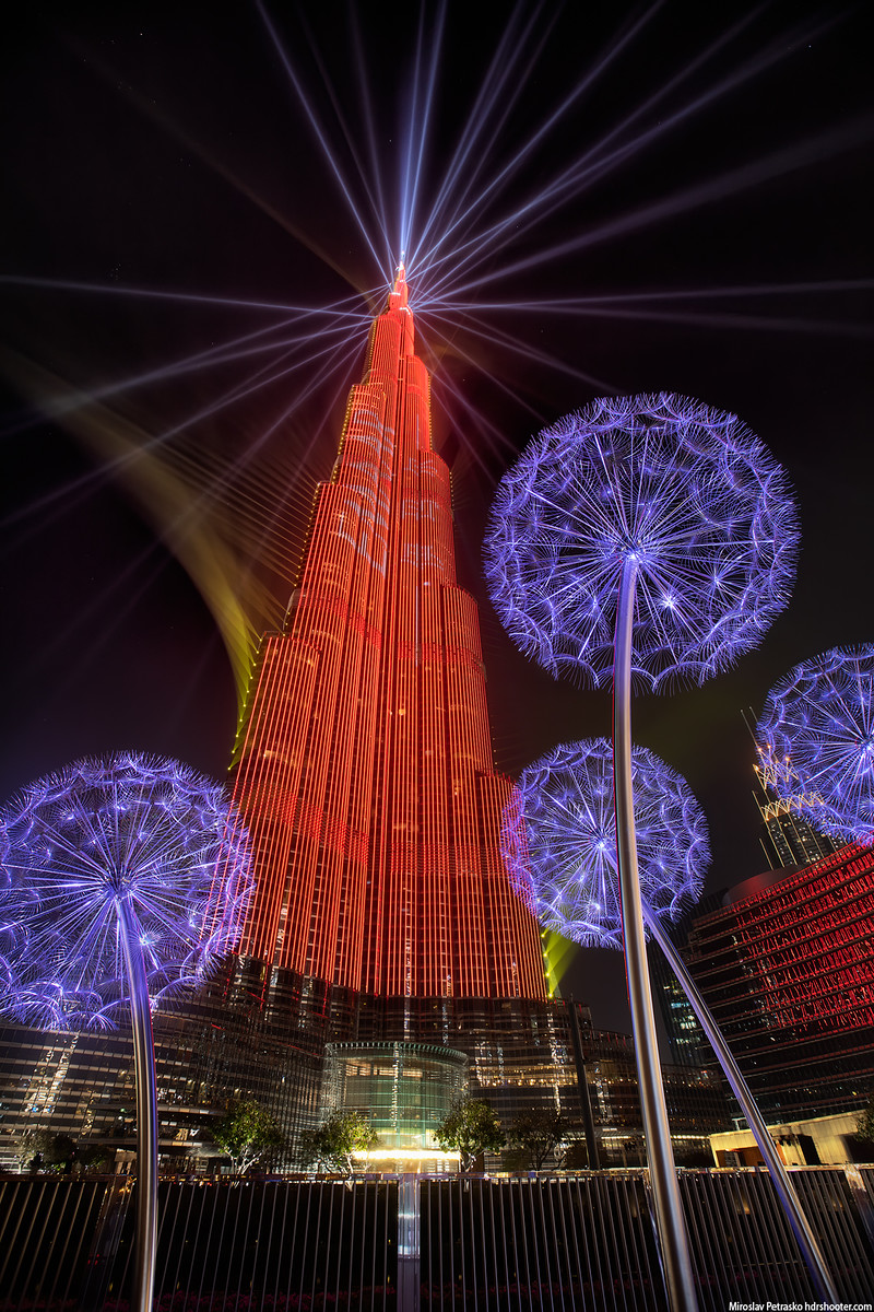 Burj Khalifa lights