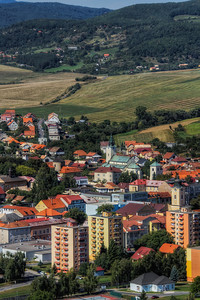 Center of Krupina  After all the photos from big cities, how about one from a smaller town. In this one you can see the center of Kruipna, which is in central Slovakia.   HDR from three shots, taken with Canon 7D with Sigma 18-200mm from a tripod.