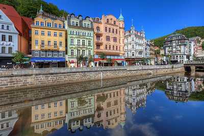 Karlovy vary reflection Karlovy vary is a beautiful old spa town in Czech republic.
