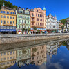<h2>Karlovy vary reflection</h2> Karlovy vary is a beautiful old spa town in Czech republic.