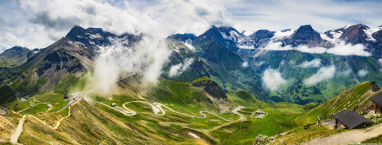High up in the Alps, Grossglockner High Alpine Road, Austria