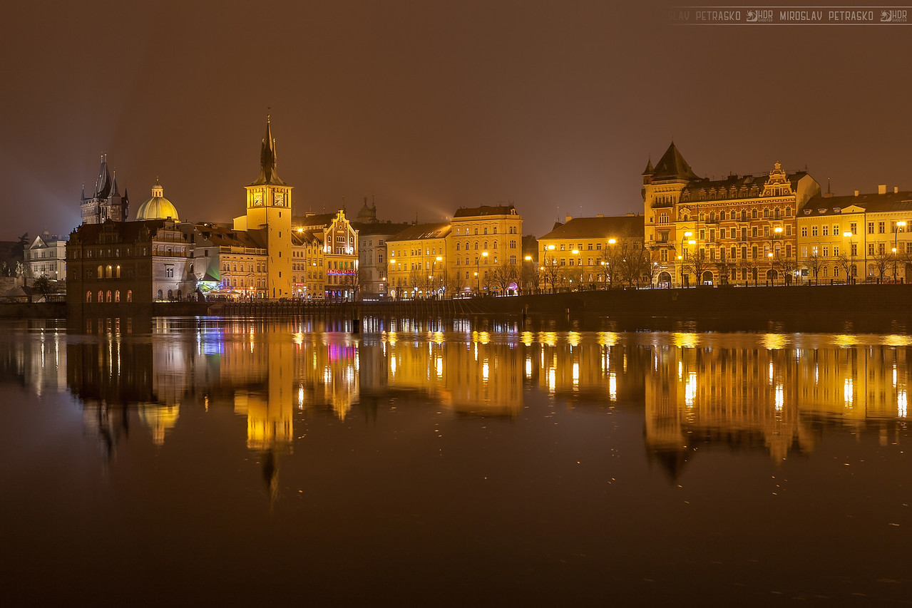 Prague in yellow