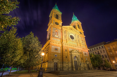 Church of St. Vaclav I came across this church in Prague just by a chance. I was already on my way home from a shoot and I never took that street before. Too bad they had a billboard for some event directly in front of the church, so I had to stand quite close to it, so I avoid it.