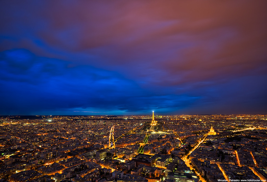 Low clouds over Paris