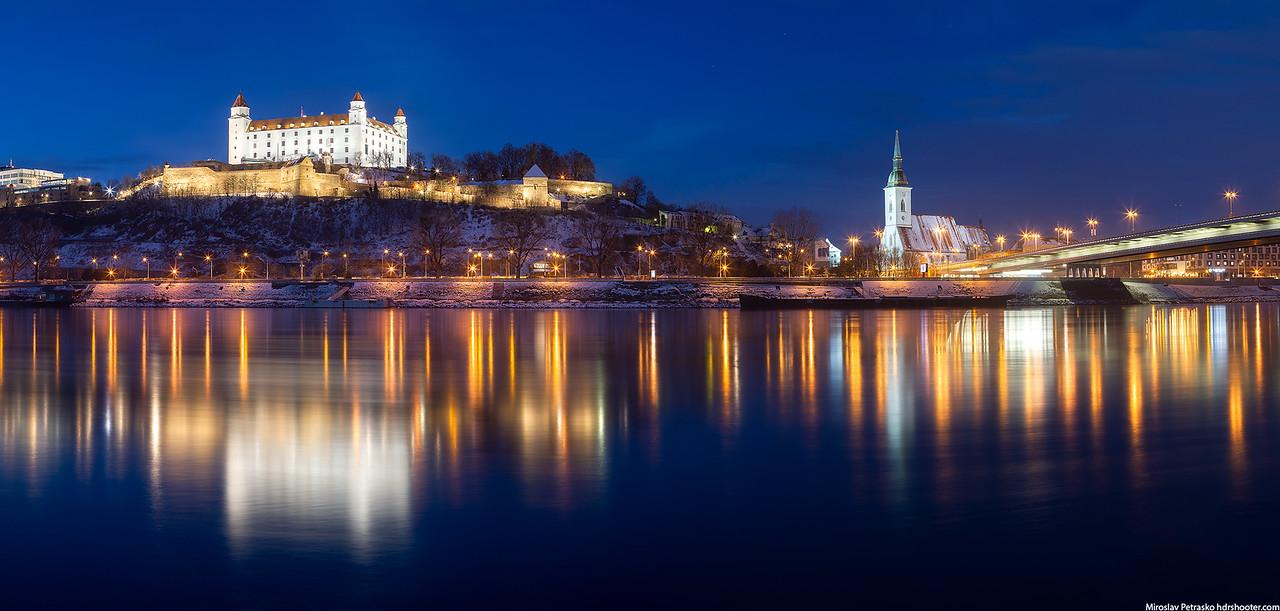 Winter reflection, Bratislava, Slovakia