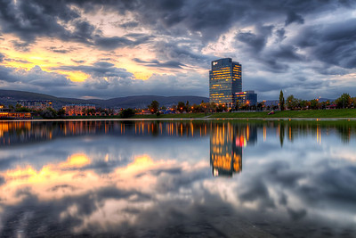 Best place for reflections in Bratislava The Kuchajda lake really is the best place for reflections in Bratislava. It always delivers :)