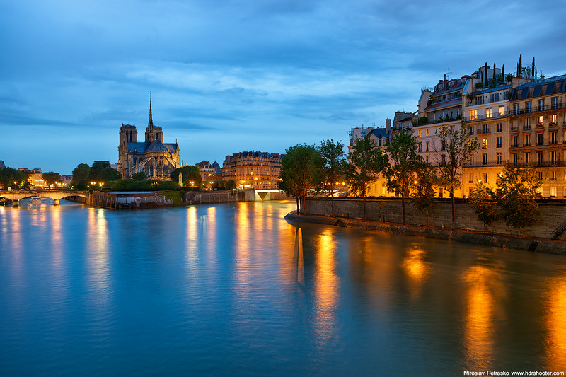 Notre Dame in the rain