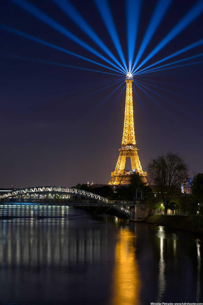 The beacon of light over Paris, Eiffel tower