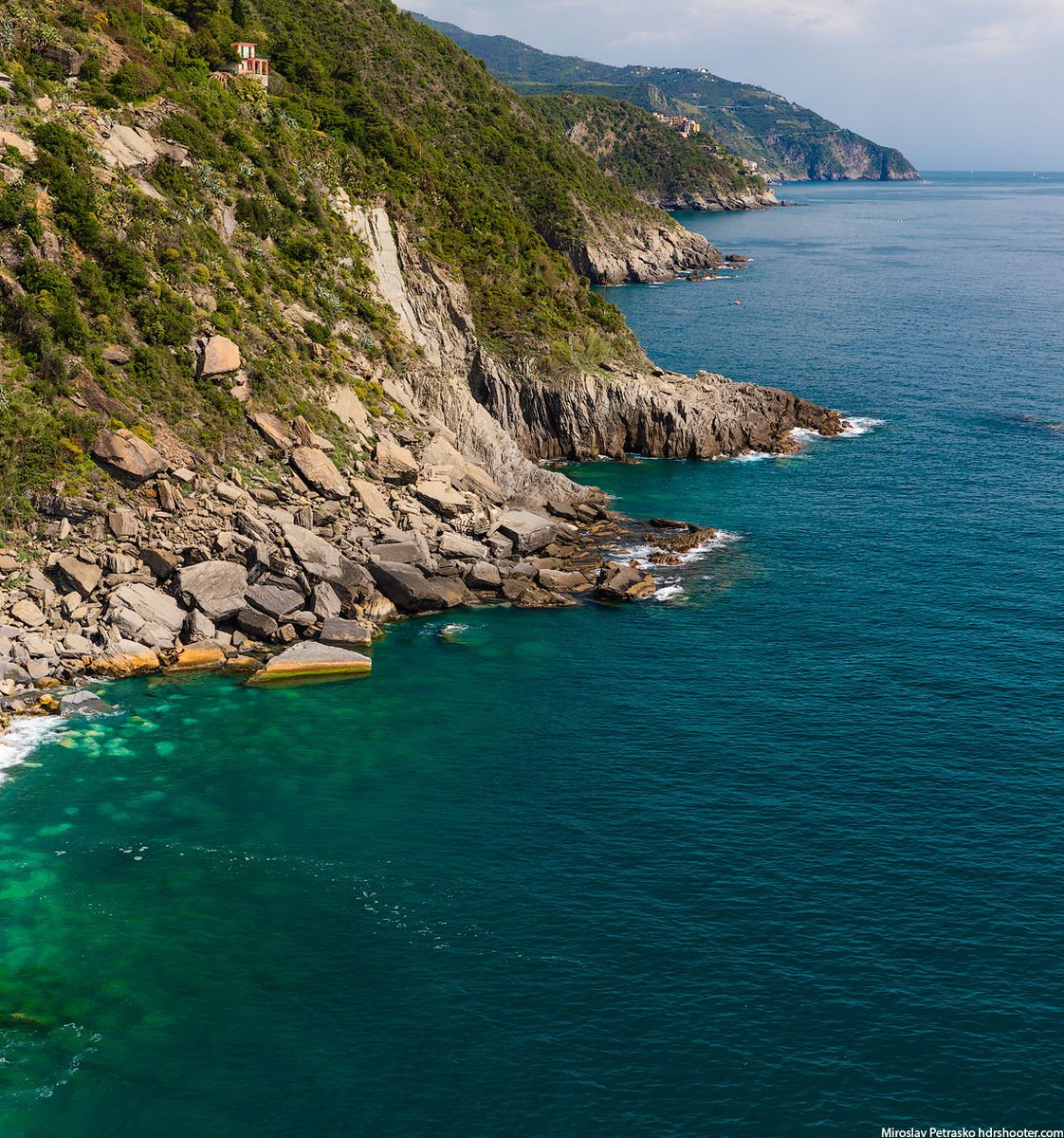 Rocky shore in Vernazza