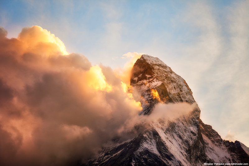 Burning Matterhorn