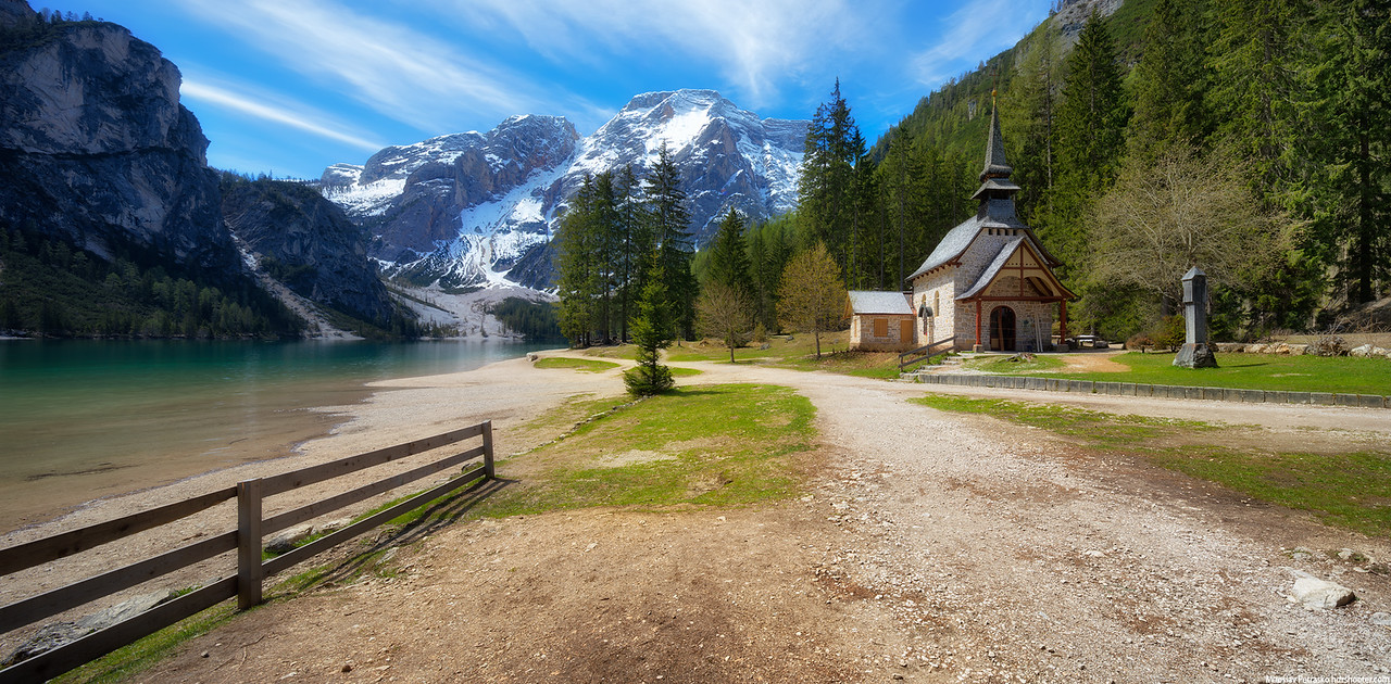 Little chapel next to Lago di Braies