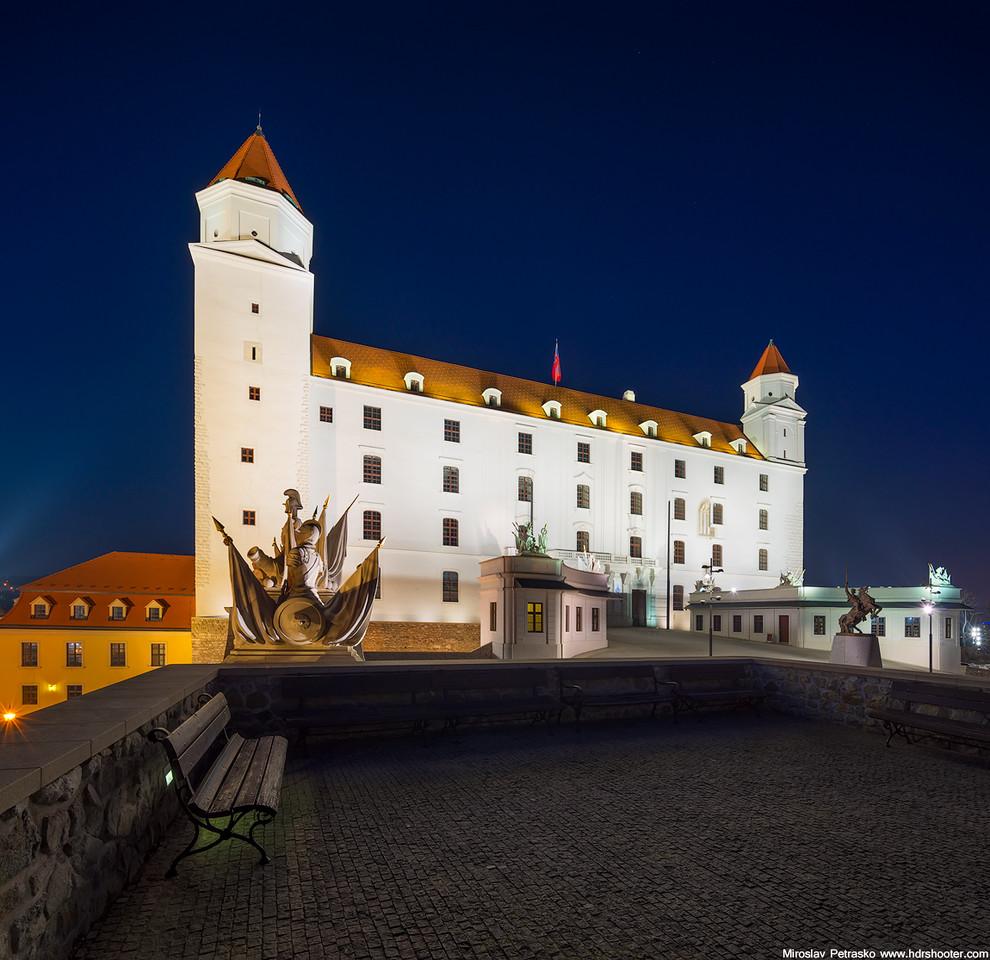 A castle vertorama Bratislava