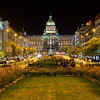 Late hour on the Wenceslas Square