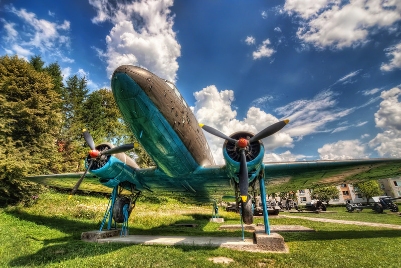 Plane at the Military museum  One from Eastern Slovakia today. This shot was taken at the Military museum in Svidnik.   HDR from three shots, taken with Canon 450D with Sigma 10-20mm lens from a tripod.