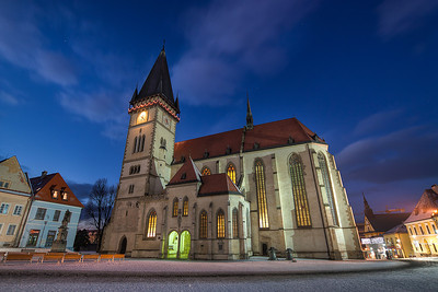 Blue hour in Bardejov  Another one from Bardejov. I was hoping to take a night shot from the tower, but  they close the tower at night. So no luck there....  HDR from three shots, taken with Canon 450D with Sigma 10-20mm lens, from a tripod.