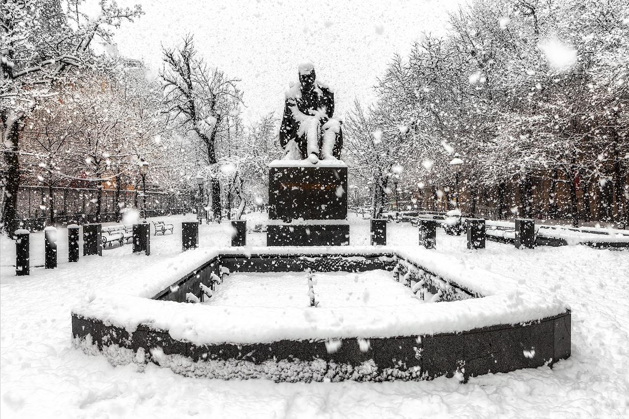 In the snow, Bratislava, Slovakia