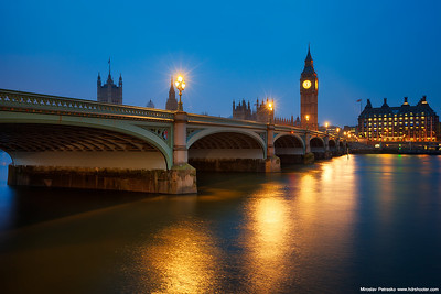 Westminster bridge in the morning