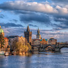 <h2>From the neighboring bridge</h2> A little different view of the Charles bridge in Prague. This is the view you get from the neighboring  Manes bridge