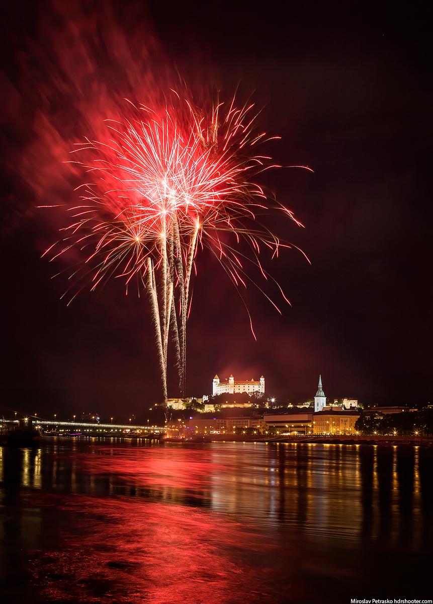 Bratislava Majales fireworks