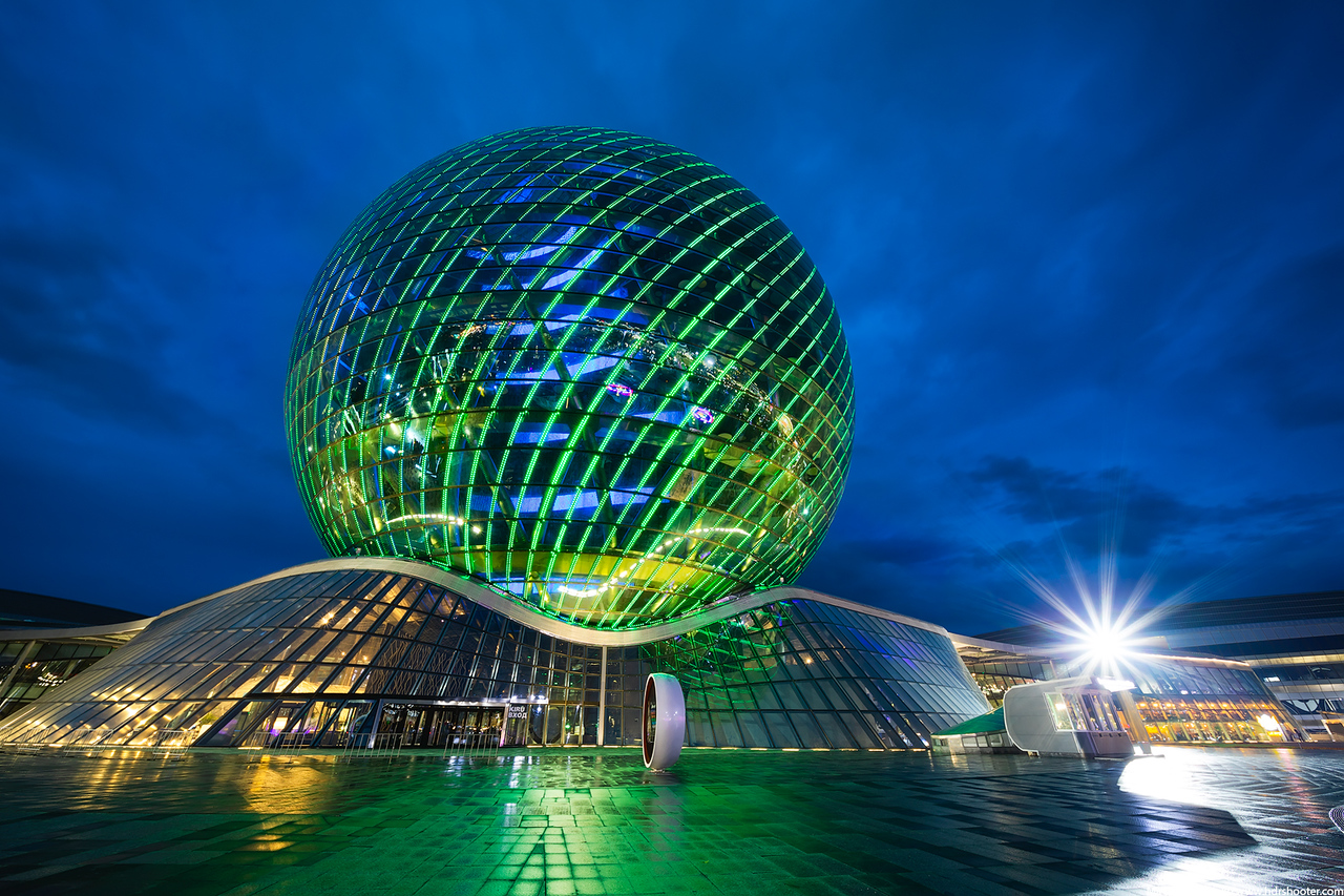 Expo 2017 Sphere building in Astana, Kazakhstan