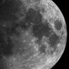 Part of the Moon<br /> <br /> I really tried to take a photo of the moon with my 200mm lens (which is around 300 on my crop sensor camera) but the moon was always so small on the photo. So this time I attached my camera to a Celestron CPC 1100 GPS (I'm not 100% sure about the type) telescope which is 2800mm. I still think that the photo could be sharper, but for a first try I think it's quite good :)<br /> <br /> I took three shots, but Photomatix was not able to properly align them, so I created a HDR from a single RAW. It's also converted to B&W as it had this yellowish color, which I didn't liked at all.<br /> <br /> HDR from a single RAW file, taken with Canon 450D with Celestron telescope.