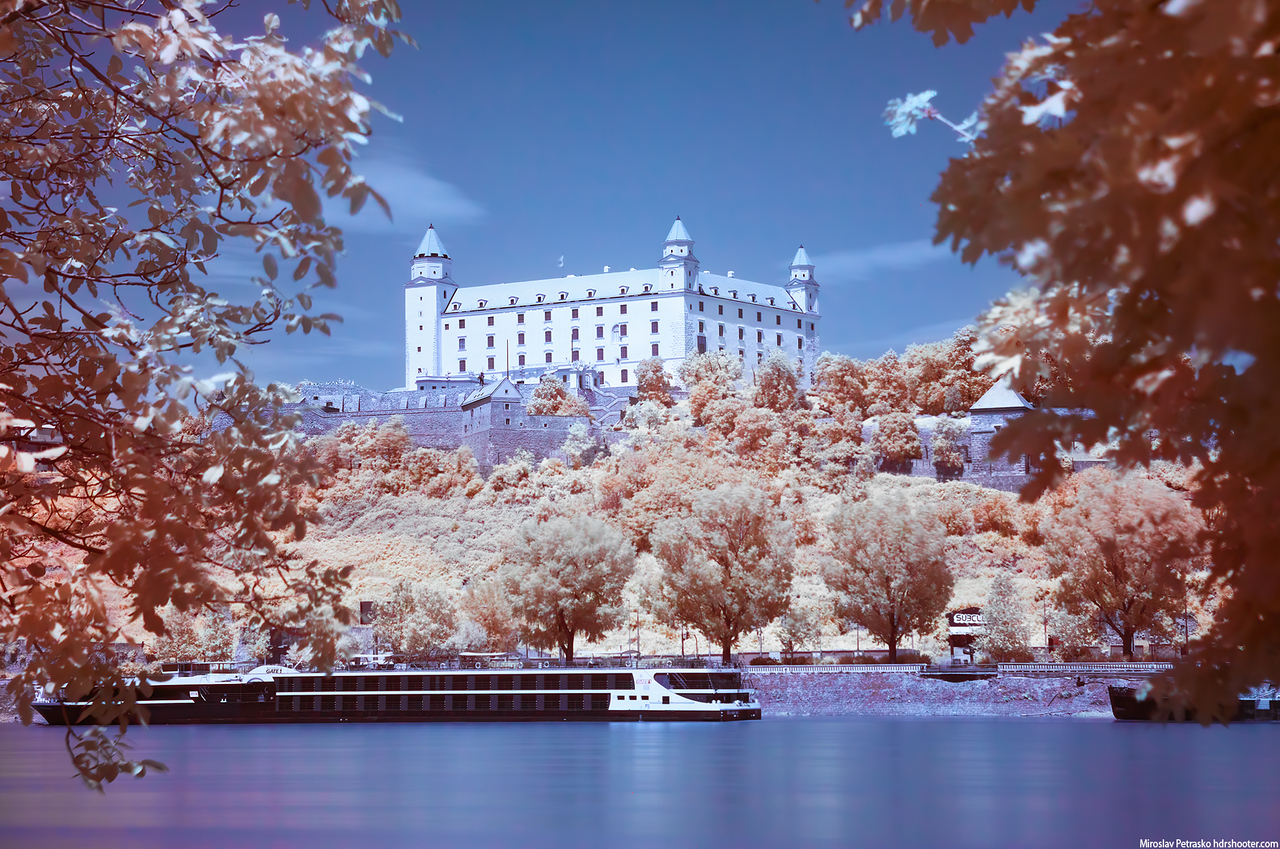 Infrared view of the Bratislava Castle