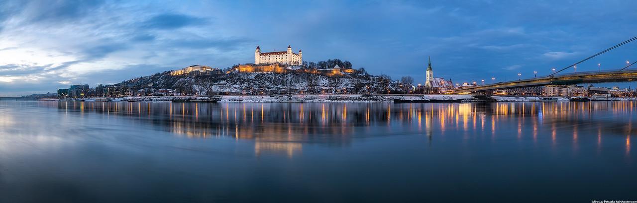 Panorama at the Danube, Bratislava, Slovakia
