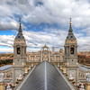 <h2>View across the cathedral</h2> This is the view you get when you go up onto the tower of the Almudena cathedral in Madrid and look towards the Royal palace.