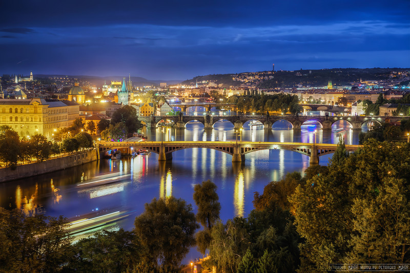 Five bridges For me this is the best place to take a photo of the bridges in Prague. You can see so many of them from here.