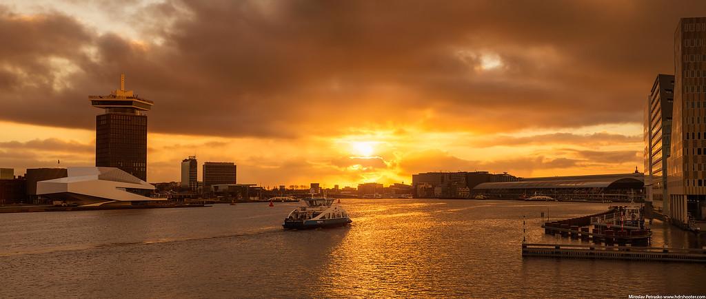 Into the Sunrise in Amsterdam