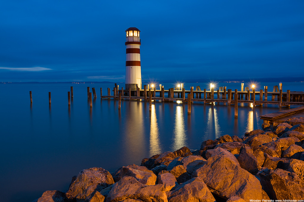 Lighthouse in the blue Podersdorf am See