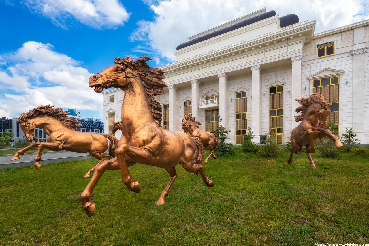 Bronze horses in Astana, Kazakhstan