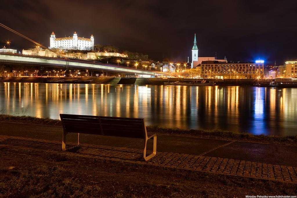 Night at the Danube, Bratislava, Slovakia