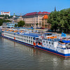 <h2>Colorful ships on Danube</h2> As summer is closer and closer there are more boats on Danube.