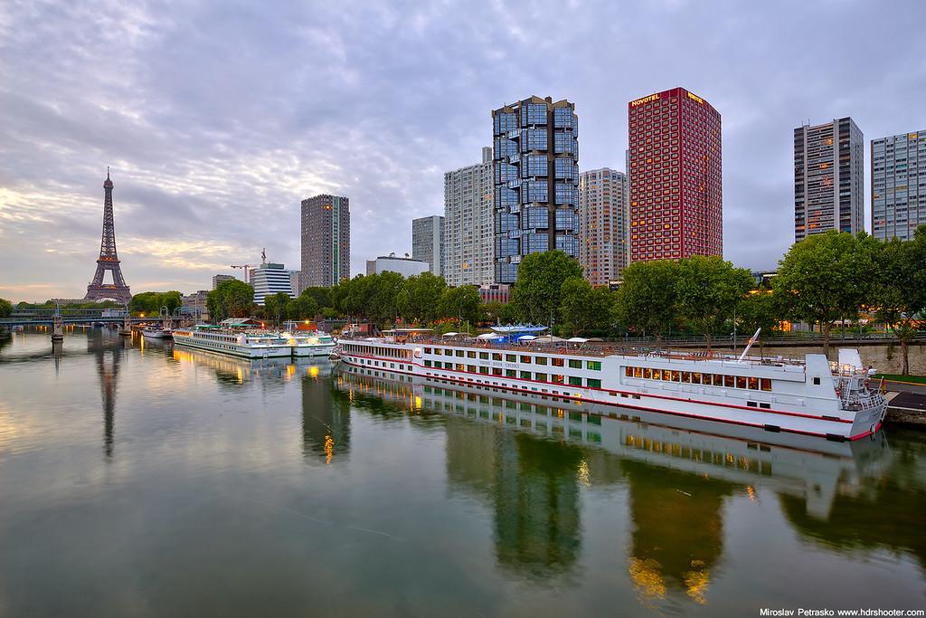 Calm morning river