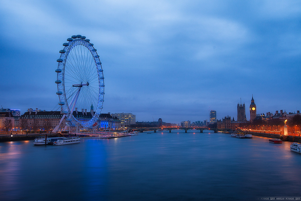 Blue morning in London
