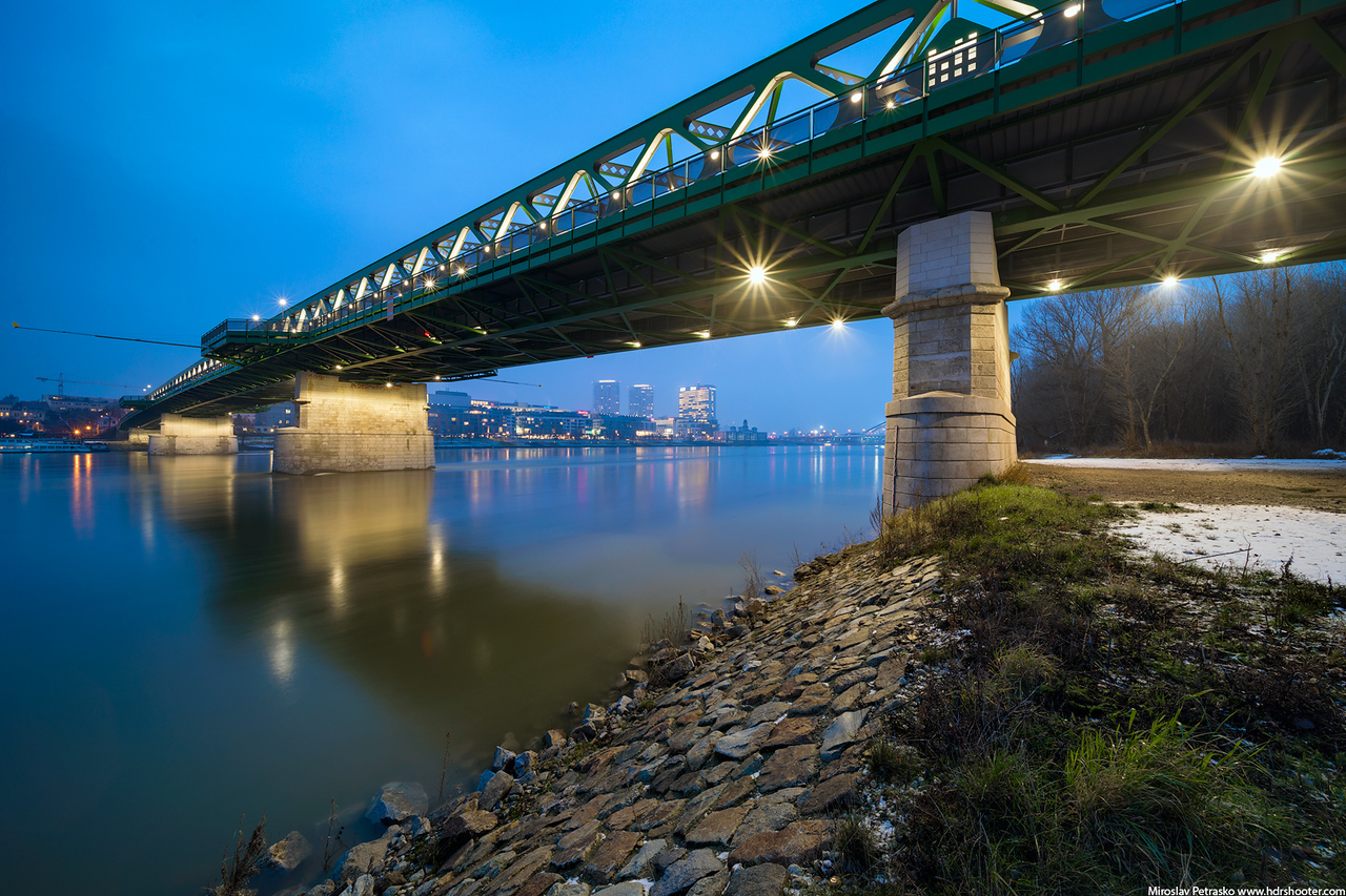 At the Old bridge, Bratislava, Slovakia