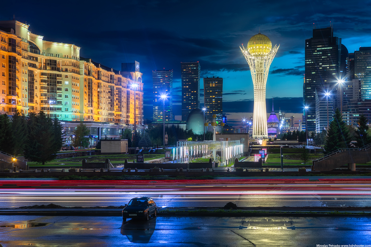 Night in Astana, Kazakhstan