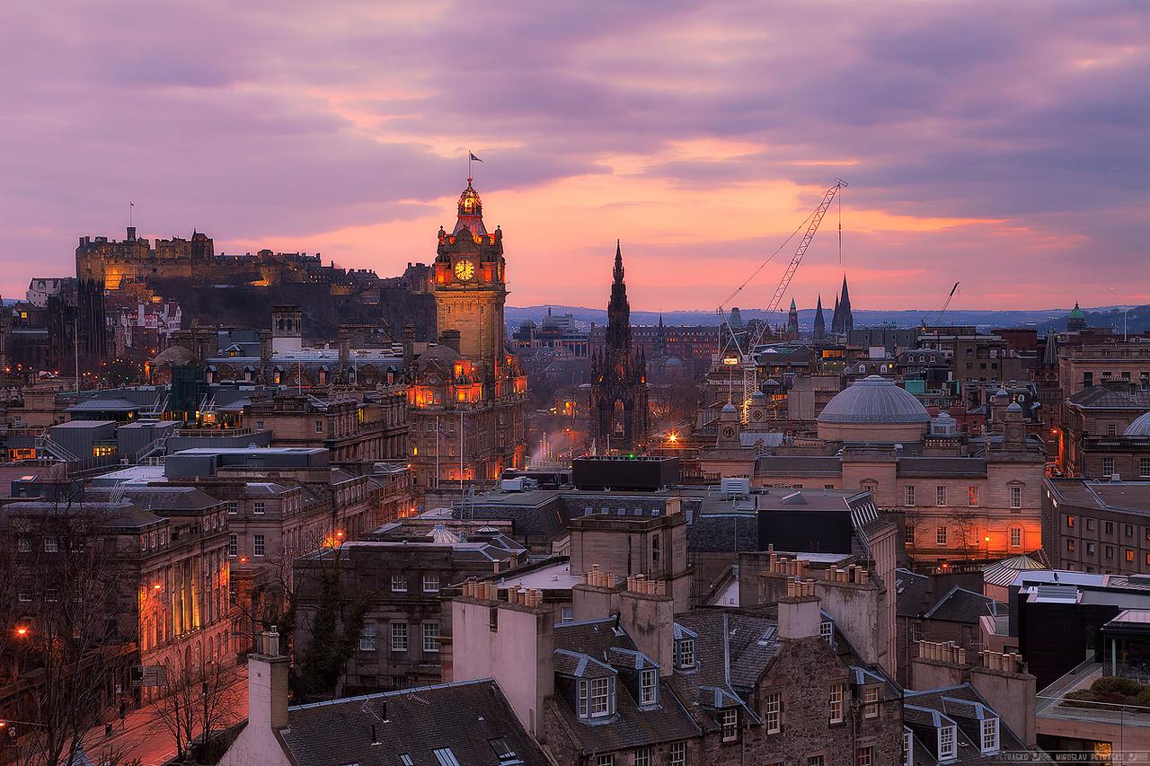Sunset above Edinburgh