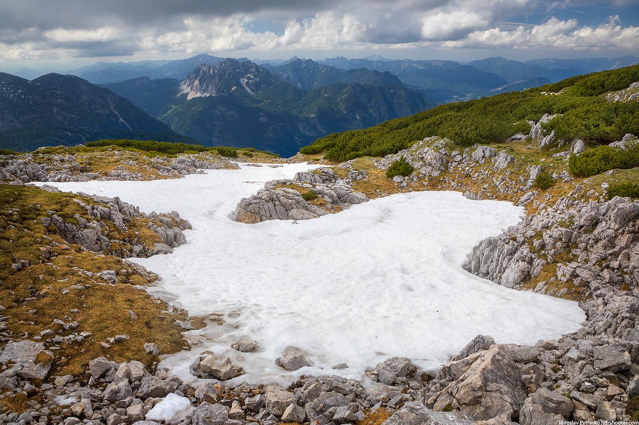Summer snow, Hallstatt, Austria