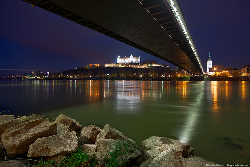 Cold evening by Danube