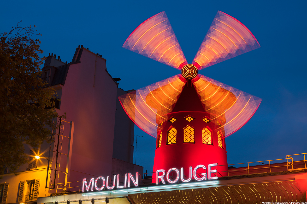 Windmill on the Moulin Rouge, Paris, France