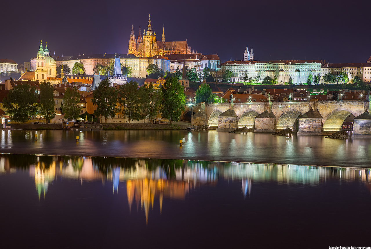 Prague reflection, Prague, Czech republic