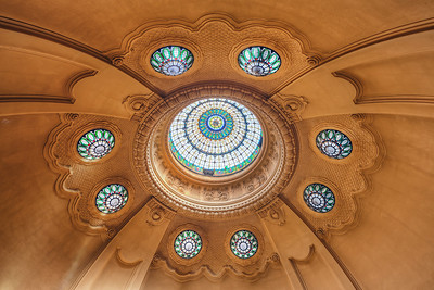Architectural Flower I spend few hours relaxing at a spa today, so how about a new photo taken at a spa (not the same one :) ). As some of you probably already noticed, I tend to look up when I'm inside an interesting structure and the Gerald spa in Budapest is interesting. So I got something like this, with I can only call and Architectural Flower.. as that's how it looks to me :)