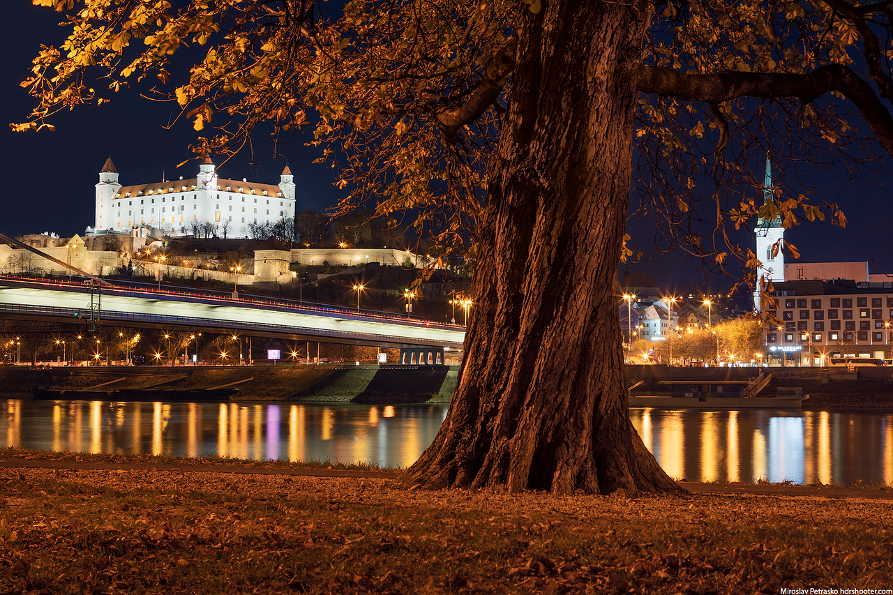 Autumn view from the park. Bratislava, Slovakia