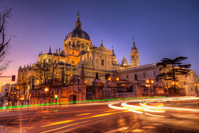 Sunset by the Almudena Cathedral