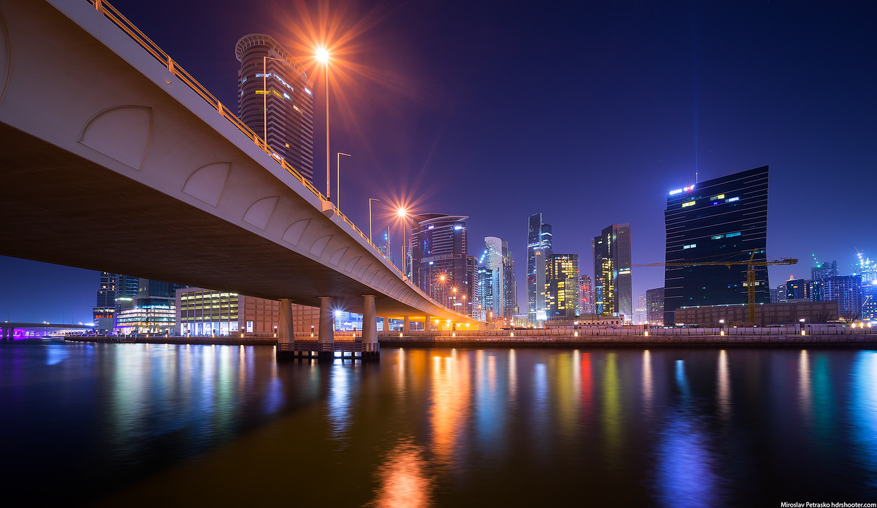 At the edge of Business bay in Dubai, UAE